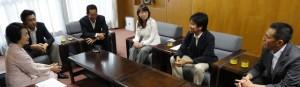 「横浜市内放射能対応への緊急要望」を市長に提出。