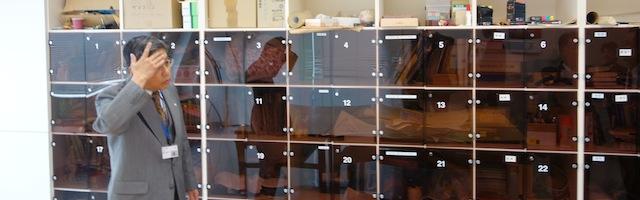作業室の中には、専用の棚があります。