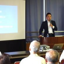 市政報告会を山内地区センターで開催しました。