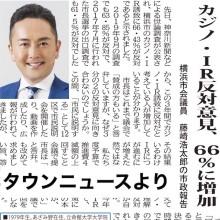カジノ・IR誘致反対意見が66.43%に増加!(タウンニュースより)